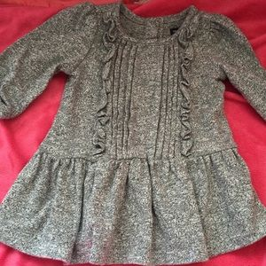 Baby gap gray ruffle sweater dress